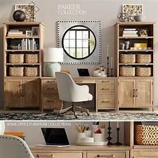pottery barn home office furniture pottery barn parker home office furniture 3d model 1
