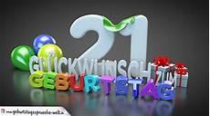 Edle Geburtstagskarte Mit Bunten 3d Buchstaben Zum 21