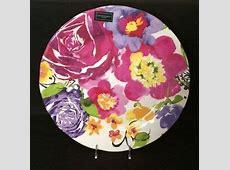 Cynthia Rowley Melamine Purple & Pink Floral Dinnerware