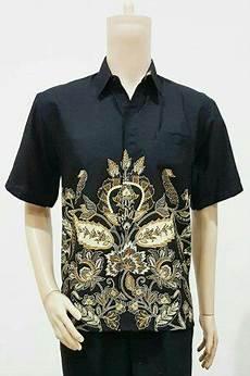 jual baju kemeja atasan lengan pendek pria hem batik cowok pakaian kerja formal elegan batik pdk