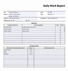 Bau Tagesbericht Vorlage - daily report template 12 free sles exles format