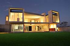 Concrete Facade Residence With Big Windows For Light concrete facade residence with big windows for light