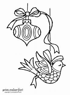 Ausmalbilder Weihnachten Lustig Two Ornaments Coloring Page Print Color