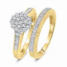 3 4 carat diamond bridal wedding ring 10k yellow gold