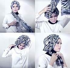Tutorial Simple Turban Style With Motif Scarf