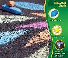 Amazon Com Chalk City Sidewalk Chalk 20 Count Sidewalk Chalk 48 Count Crayola Com Crayola