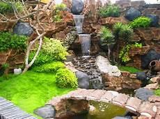 Desain Gambar Pancuran Air Taman Waterfall Freewaremini