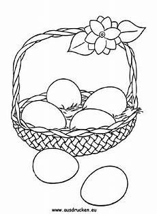 Ausmalbilder Ostern Eier Ausmalbilder Osterkorb Mit Eier Zum Ausmalen Ausdrucken