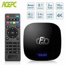 Amlogic S905w Ddr3 16gb Emmc Wifi by A95x F1 Smart Tv Box Android 8 1 2gb Ddr3 16gb Emmc