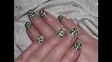 leoparden nageldesign f 252 r kurze n 228 gel selber machen