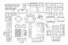 interior design floor plan symbols top view furniture cad symbol vector furniture collection