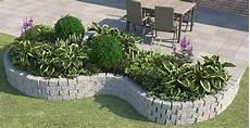 Beete Mit Steinen Gestalten - beetbepflanzung ideen