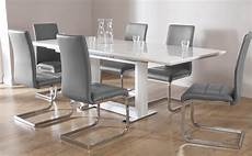 Esstisch Hochglanz Grau - tokyo white high gloss extending dining table and 8 chairs
