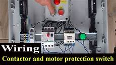how to wire contactor and motor protection switch direct on line starter youtube