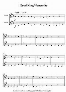 good king wenceslas sheet music for violin duet music violin violin music violin lessons