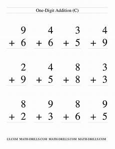 single digit addition some regrouping 12 per page c math worksheet freemath addition