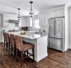 An Quot L Quot Shaped Kitchen Island Kitchen Small U Shaped Kitchen Island Narrow Kitchen Island Ideas