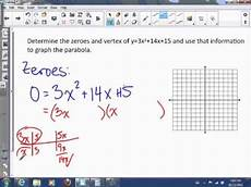 3 13 finding vertex from factored form youtube