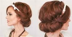 einfaches updo mithilfe eines haarbands selber machen