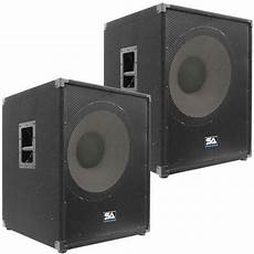 pa powered subwoofers 2 seismic audio 18 quot pa powered subwoofer active speaker ebay