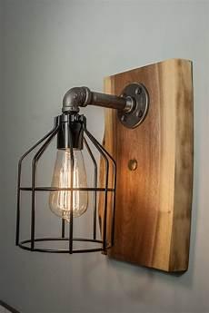 steunk edison wall sconce light fixture woodify canada