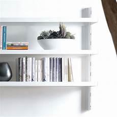 scaffali a parete melker scaffale da parete in acciaio bianco nero grigio