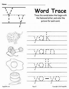 letter y free printable worksheets 23818 letter y words free alphabet tracing worksheet supplyme
