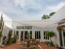 Courtyard Shade shade sails custom tension structures fabric sails