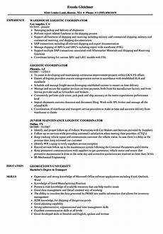 logistics coordinator resume ipasphoto