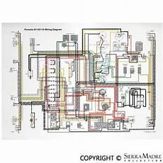 Porsche Parts Color Wiring Diagrams 50 73