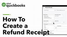 how to create a refund receipt in quickbooks us tutorial youtube