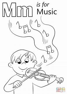 letter m is for music coloring page free printable coloring pages