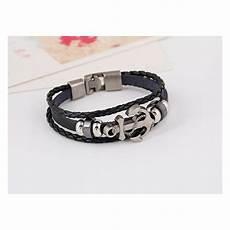 bracelet cuir ancre marine bracelets homme