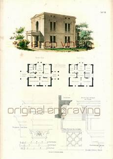 roman villa house plans 1854 roman villa blueprints architectural by