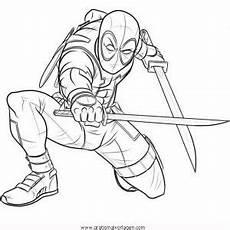 Malvorlagen Tiger Pool Deadpool 7 Gratis Malvorlage In Comic Trickfilmfiguren