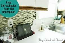 easy diy self adhesive faux tile backsplash days of