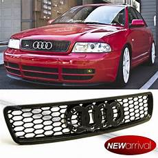 for 96 01 a4 s4 b5 euro rs4 style black abs honeycomb glossy grill grille ebay