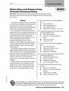 main idea and supporting details summarizing worksheet for 5th 6th grade lesson planet