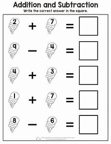 summer addition and subtraction worksheets itsy bitsy fun