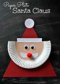 paper plate santa claus santa crafts crafts