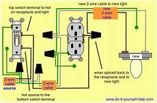 how to wire a light switch from an outlet diagram fuse box and wiring diagram