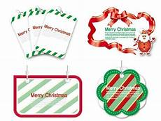 free of lovely merry christmas labels vector 01 titanui
