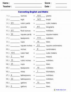 english metric conversion quiz worksheets measurement worksheets metric to english