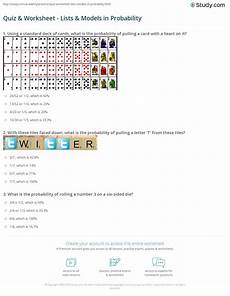 probability worksheet igcse 5803 quiz worksheet lists models in probability study