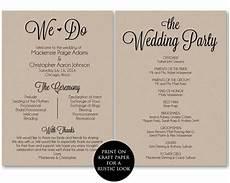 wedding program template pdf ceremony program template wedding program printable we do wedding printable template pdf