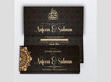 Black Royal Muslim Wedding Card   Muslim wedding cards