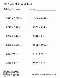 division with decimals worksheets grade 6 7491 sixth grade adding decimals worksheet