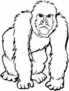 ausmalbilder silvester supercoloring gorilla ausmalbild