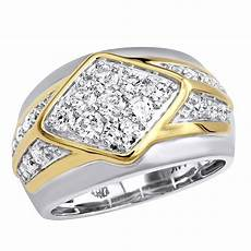 unique mens diamond ring in 14k gold luxurman wedding band