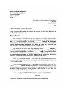 Modification Individuelle Du Contrat De Travail by Modele Lettre Denonciation Usage